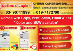 Optimus Copier Kajang Biz