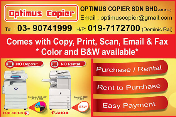 Optimus Copier | KajangBiz
